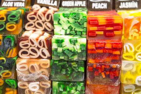 jabon: Jabones artesanales aromáticas Foto de archivo
