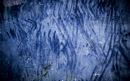 bstract: Dark blue obsolete metal surface texture background