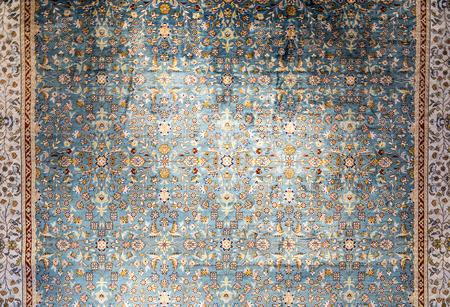 Tapijt fragment textuur met Turkse bloemen ornamenten
