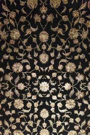 Tapijt fragment textuur met Turkse bloemen ornamenten Stockfoto - 81157182