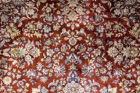 Tapijt fragment textuur met Turkse bloemen ornamenten Stockfoto - 74256353