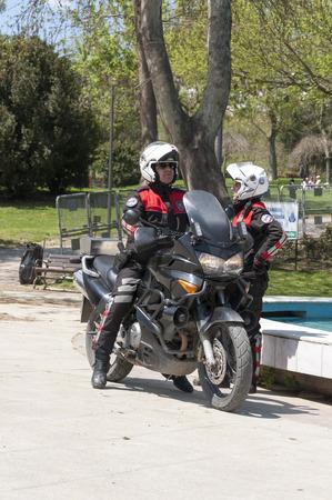 Turkse politieagenten met motobike