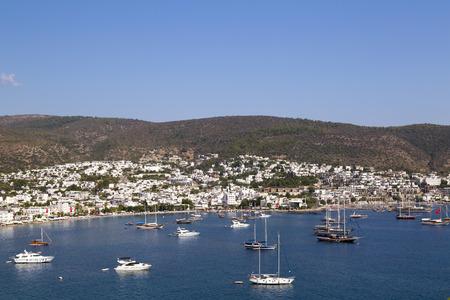 coastlines: Bodrum Yacht Marina, Bodrum town, Aegean coast of Turkey.