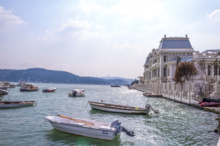 consulate: ISTANBUL - SEPTEMBER 15, 2016: View of Consulate of Egypt in Bebek area of Istanbul by the Bosphorus.