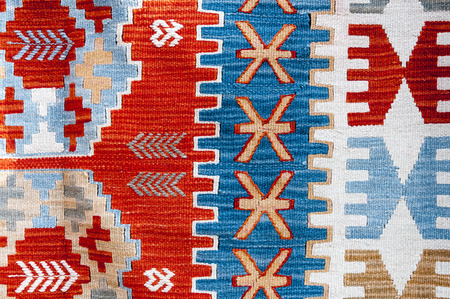 detailed image: Traditional Turkish kilim close up texture Stock Photo