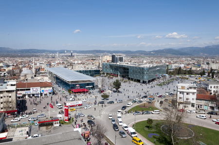 generic location: View from Kent Meydani, the shopping center in central district of Bursa, Turkey