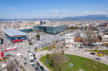 generic location: View from Kent Meydani, the shopping center in central district of Bursa, Marmara, Turkey