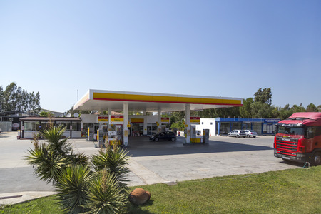 Shell gas station in Milas town, Turkey