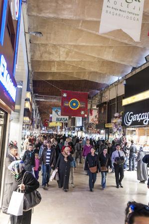kapalicarsi: Bursa, Turkey - May 6, 2014: Interior view from the Grand Bazaar or Kapalicarsi of Bursa, Turkey on May 6, 2014