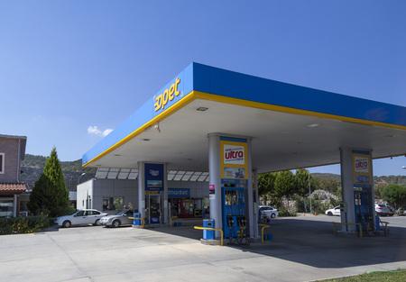 Milas, Turkey - Circa 2016: Turkish gas station Opet