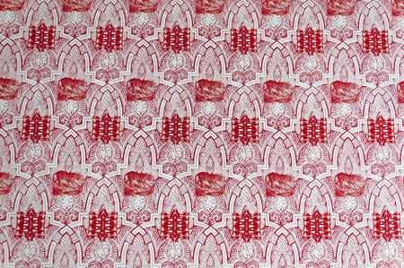 printed machine: Vintage pattern on paper