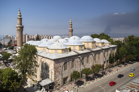 Exterior view of the Grand Mosque or Ulucami in Bursa, Turkey