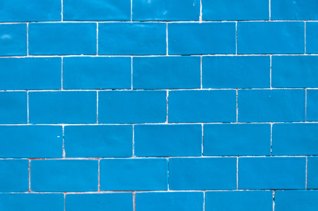 blue border: Blue brick wall texture background