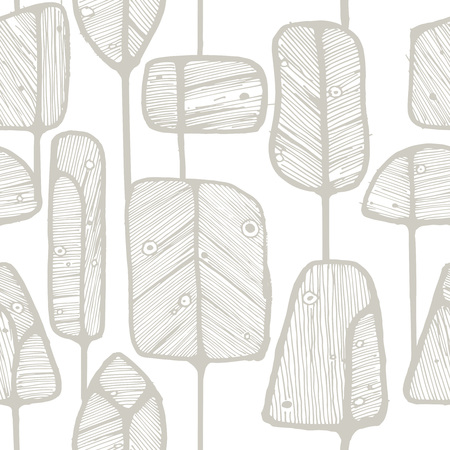 vintage drawing: Vector seamless pattern design with abstract doodle trees, perfect for fabric, wallpaper, wrapping paper prints or web background.