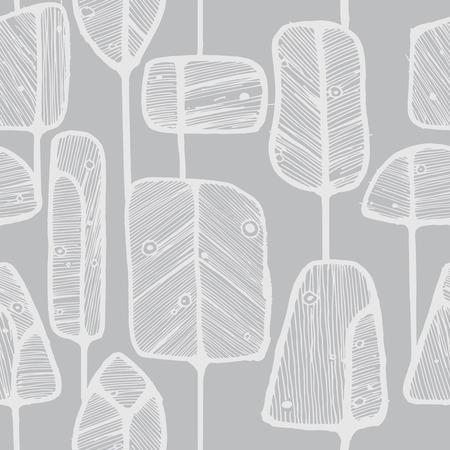 抽象的なベクトルのシームレスなパターン設計は落書き木、ファブリック、壁紙、包装紙の印刷物や web の背景に最適です。  イラスト・ベクター素材