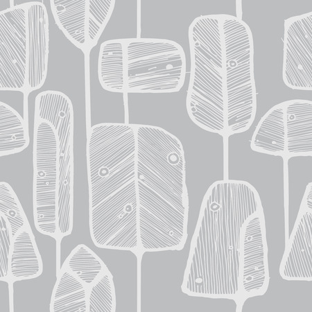 Vector seamless pattern design with abstract doodle trees, perfect for fabric, wallpaper, wrapping paper prints or web background.