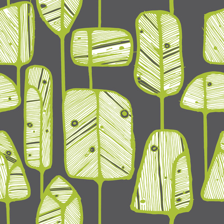 wallpaper doodle: Vector seamless pattern design with abstract doodle trees, perfect for fabric, wallpaper, wrapping paper prints or web background.