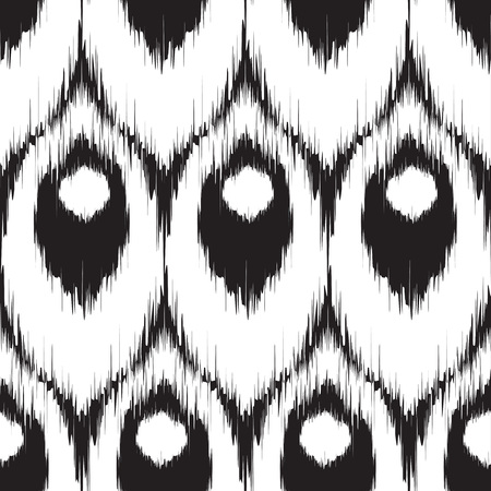 Vector ikat seamless pattern, repeating background design for all web and print purposes