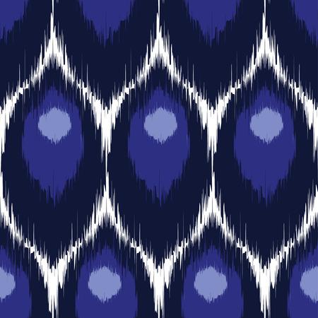 textil: Vector ikat patrón sin fisuras, repitiendo el diseño de fondo para todos los propósitos web e imprimir