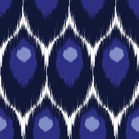 beautiful homes: Vector ikat seamless pattern, repeating background design for all web and print purposes