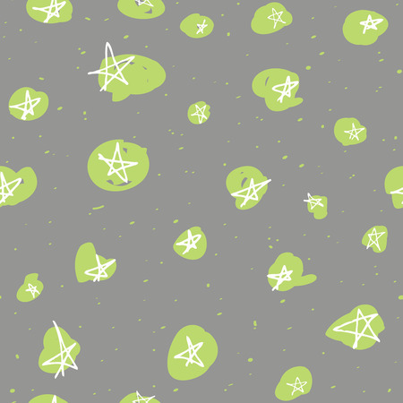 sketchy: Vector seamless pattern design with hand drawn sketchy stars