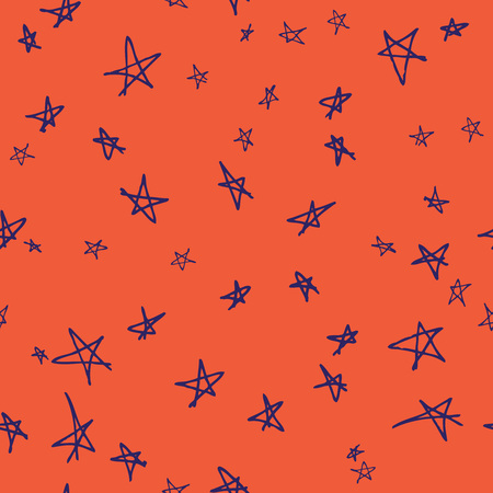 cosmos: Vector seamless pattern design with hand drawn sketchy stars