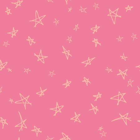 amazing wallpaper: Vector seamless pattern design with hand drawn sketchy stars