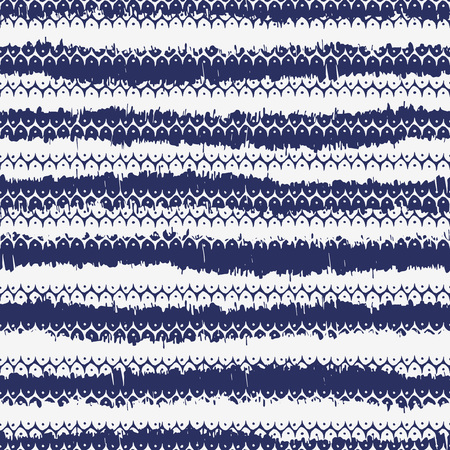 Vector seamless pattern design with native abstract stripes and dots, ethnic repeating background for all web and print purposes.