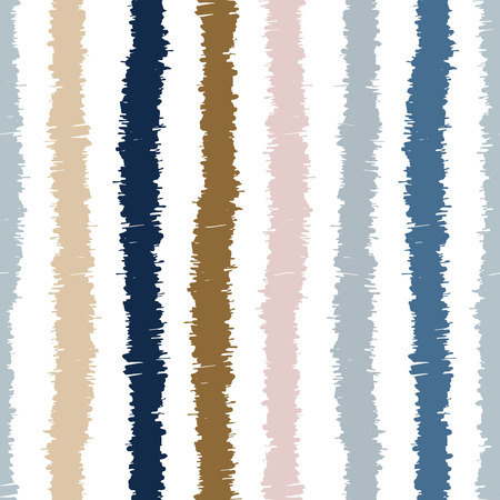 Vector seamless pattern design with sketchy stripes, ethnic repeating background for all web and print purposes.