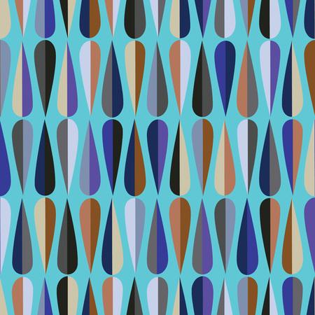 #47033753   Mitte Des Jahrhunderts Modernen Retro Stil Nahtlose Muster Mit  Tropfenformen In Verschiedenen Farbtönen, Abstrakten Hintergrund  Wiederholen Für ...