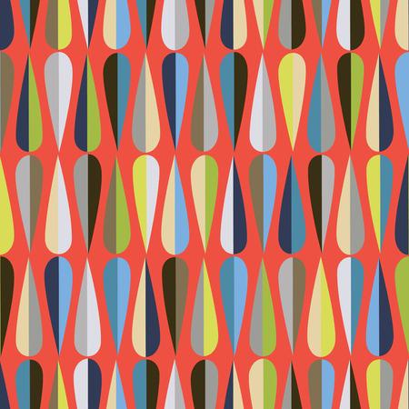 #47033805   Mitte Des Jahrhunderts Modernen Retro Stil Nahtlose Muster Mit  Tropfenformen In Verschiedenen Farbtönen, Abstrakten Hintergrund  Wiederholen Für ...