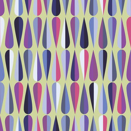#47033807   Mitte Des Jahrhunderts Modernen Retro Stil Nahtlose Muster Mit  Tropfenformen In Verschiedenen Farbtönen, Abstrakten Hintergrund  Wiederholen Für ...