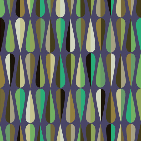 midcentury: Mid-century modern style retro seamless pattern with drop shapes in various color tones, abstract repeating background for all web and print purposes.