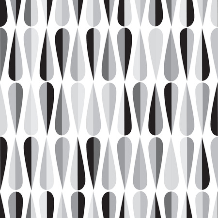midcentury: Mid-century modern style retro seamless pattern with drop shapes in shades of gray, abstract repeating background for all web and print purposes. Illustration