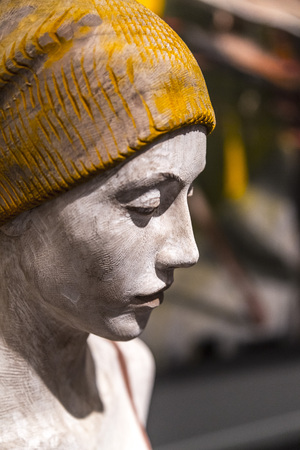 ladies bust: Istanbul, Turkey - November 13, 2015: Piece of art at the 10th edition of the annual Contemporary Istanbul artshow held in Lutfi Kirdar Convention Center, Istanbul on November 13.