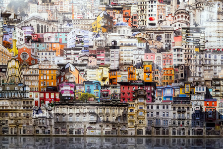 Istanbul, Turquie - 13 Novembre, 2015: Pièce d'art à la 10e édition de la artshow annuelle contemporaine Istanbul tenue à Lutfi Kirdar Convention Center, Istanbul le 13 Novembre. Éditoriale
