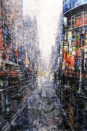Beschilderd doek fragment, abstracte kunst schilderij detail textuur achtergrond met penseelstreken