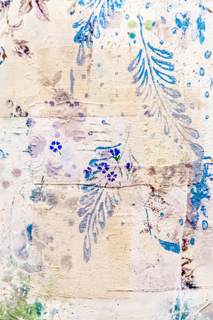 distressed: Painted canvas fragment, abstract art painting detail texture background with brushstrokes