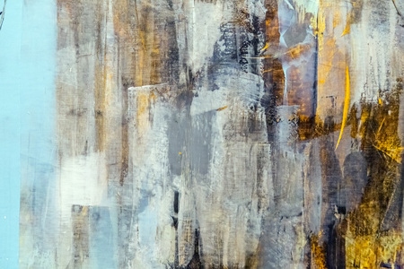 abstract painting: Painted canvas fragment, abstract art painting detail texture background Stock Photo
