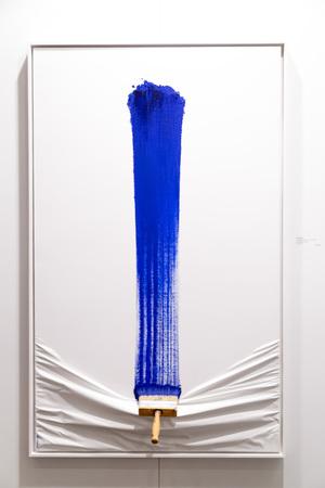 arte moderno: pincelada azul
