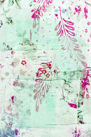 pink wallpaper: Painted canvas fragment, abstract art painting detail texture background Stock Photo