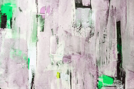 painting art: Painted canvas fragment, abstract art painting detail texture background Stock Photo