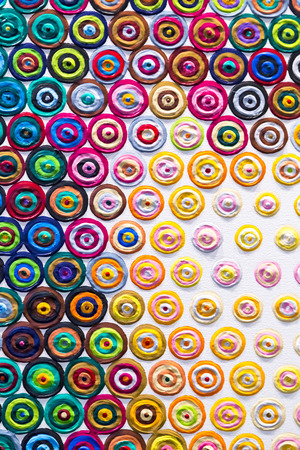 Beschilderd doek fragment, abstracte kunst schilderij detail textuur achtergrond Stockfoto
