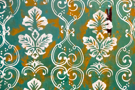 vintage patterns: Painted canvas fragment, abstract art painting detail texture background Stock Photo