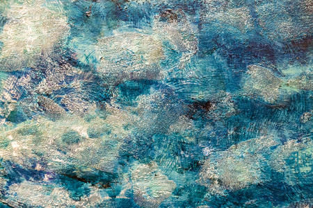 painted background: Painted canvas fragment, abstract art painting detail texture background Stock Photo