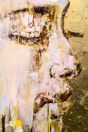 Istanbul, Turkije - 13 november 2015: Kunst stukken uit verschillende kunstenaars in de 10e editie van de jaarlijkse hedendaagse Istanbul artshow gehouden in Lutfi Kirdar Convention Center, Istanbul op 13 november.