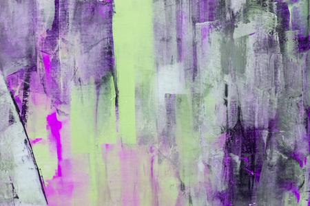 Frammento di tela dipinta, arte astratta pittura dettaglio texture di sfondo con pennellate