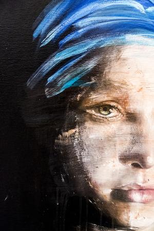 Istanbul, Turchia - 13 novembre 2015: un'opera d'arte di vari artisti in 10 ° edizione dell'annuale Artshow Istanbul contemporanea tenutosi a Lutfi Kirdar Convention Center, Istanbul il 13 novembre. Archivio Fotografico - 49261194