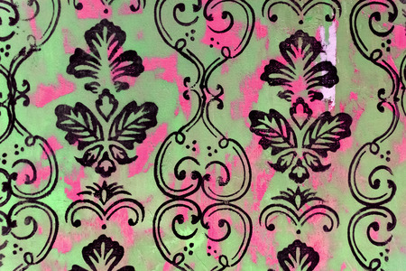 paint peeling: Damask background