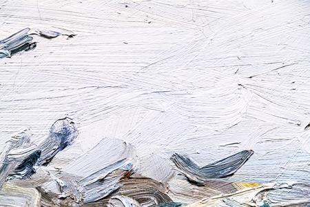 塗られたキャンバスのテクスチャ背景 写真素材